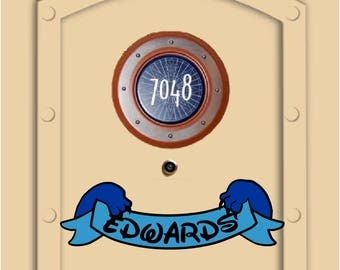 Disney Cruise Door Stitch Magnet Personalized with your name, (not paper) Fish Extender Gifts
