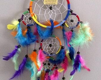 Dream catcher multicolored dream dreamcatcher sensor wooden beads