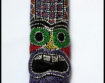Magnet magnet Maori Tiki Polynesian wooden painted kitchen fridge