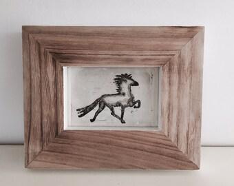 Icelandic horse etching