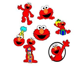 Elmo Svg Pack, Elmo, Sesame Street Svg, Elmo Svg Files, Elmo Muppets Svg, Elmo Silhouette Files, Elmo Cricut Files