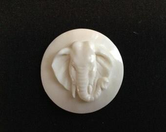 Carved bone elephant