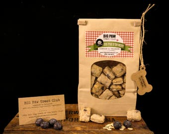 Ships FREE! Blueberry Oatmeal Dog Treats, Gourmet, Homemade Dog Treats, Dog Biscuits, Gift for Dog Lovers, Healthy Ingredients, Pet Supplies