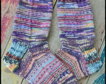 Handknitted socks size 4-5