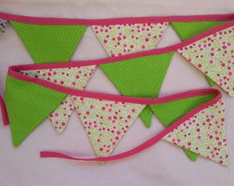 """Pennant """"green - pink"""""""