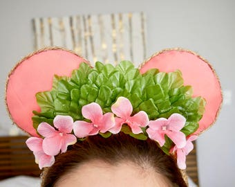 "Moana inspired ""Te fiti"" Minnie Ears 