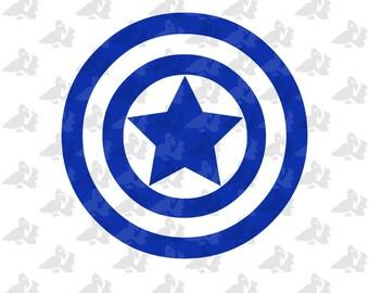 Captain America Avengers Logo Single Color Decal Sticker