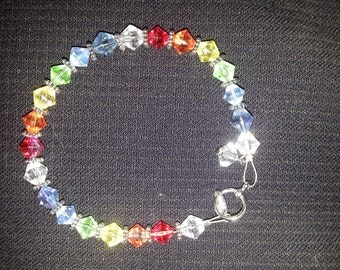 Beautiful Crystal Rainbow Bracelet.  This bracelet shimmers in the sun and goes with any attire, it is a favorite of mine.