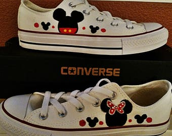 Women Mickey and Minnie Converse Shoes