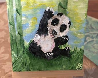 Acrylic Panda Canvas Magnet
