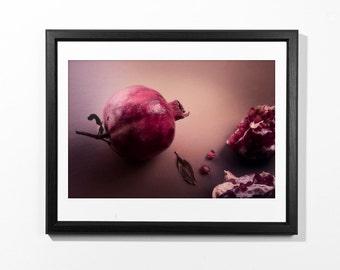 Photograph of a Pomegranate - Still Life - width ≈ 50cm at 300dpi - printable colour photograph