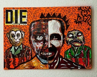 Punk Art Cut and Paste Collage Post Card Size