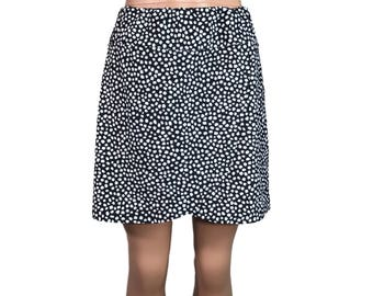 Black and White Wrap Golf / Running Skirt with Attached Short (Skort)