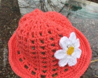 Toddler Embellished Hat Crocheted