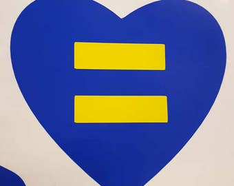 Heart Equality sticker