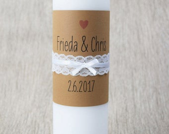 "Wedding candle ""vintage-wedding-"""