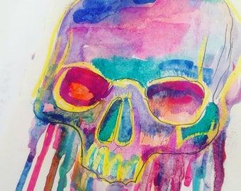 Skull Slanted Drip
