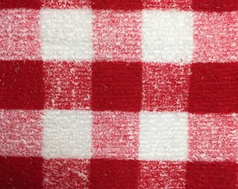 Red/ White Checked Hand Towel that can be Cross Stitched, by Crafter's Pride, 100% Cotton