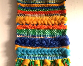 "44 weaving wall multicolored ""Carioca"" - handmade - OOAK"