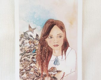 The Girl and Little birds (from Spring collection)