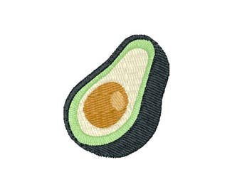 Avocado Machine Embroidery Design – Instant Download (PES, DST, and MORE)