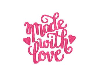 Made With Love Machine Embroidery Design – Instant Download (PES, DST, and MORE)