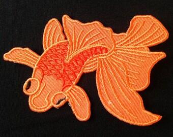 Goldfish iron on patch.