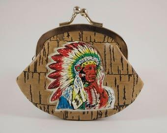 Native American Kiss Lock Coin Purse