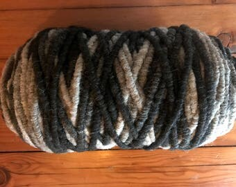 Organic, Core-Spun, Black/Grey/White/Tan Rug Yarn, 100% Alpaca