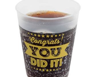 Graduation Party Cups - 16 sturdy cups perfect for Graduate parties!