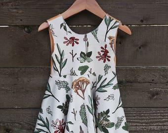 Botanical Organic Scoop Back Circle Dress, Empire Waist