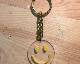 Smiley Happy Face Keychain