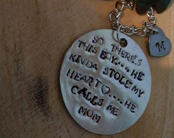 So there's this boy he kinda stole my heart he calls me mom necklace