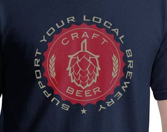 Craft Beer - Support Your Local Brewery - red