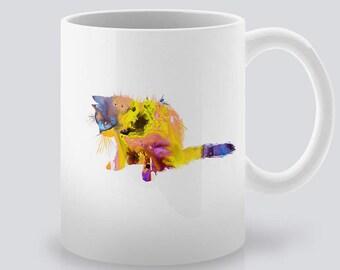 Kitten Mug Print Art Ceramic Mug