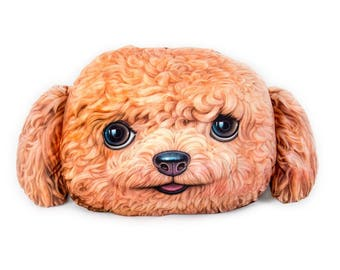 19 in. 3D Golden Doodle Cuddle Pillow, Dog Pillow Cushion, Free Shipping