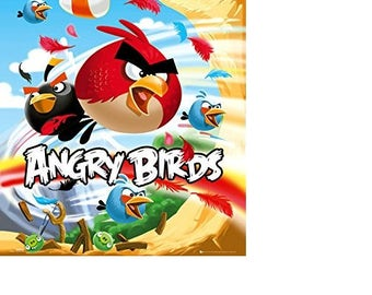 Angry birds art design animal kingdom poster home decoration wall rom decoration canvas poster