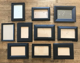 Black painted frames (empty)
