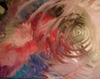 """Abstract painting """"Swirled World"""""""