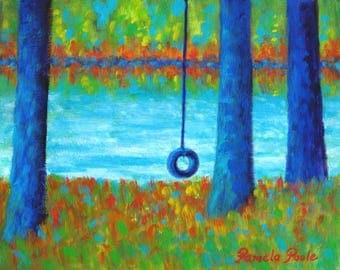 Lake Swing Tranquility Art