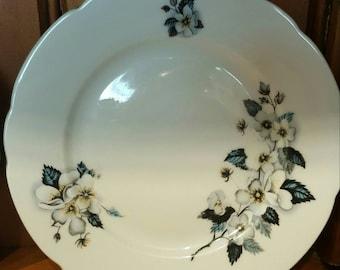 Bohemia white rose set of 3  side plates