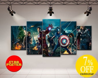 Marvel Wall Decor avengers wall art | etsy