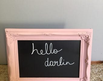 Picture frame chalkboard