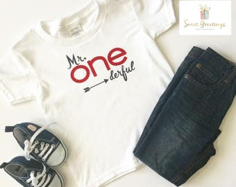 Mr. One-derful First Birthday Shirt