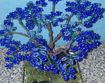 Wire beaded fairy garden tree