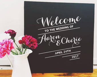 """Hand Painted """"Welcome"""" Chalkboard"""