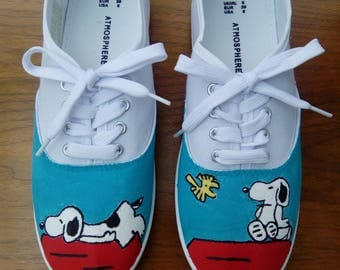 Hand Painted Snoopy Shoes