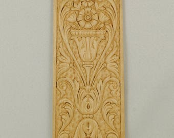 Wood Applique Panel 4-7/8 X 11-3/8 X 1/4  Inches