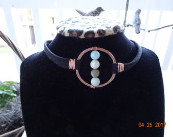 Amazonite Copper Choker