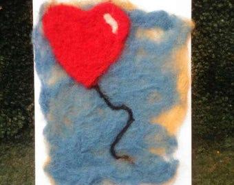Heart felt greetings card